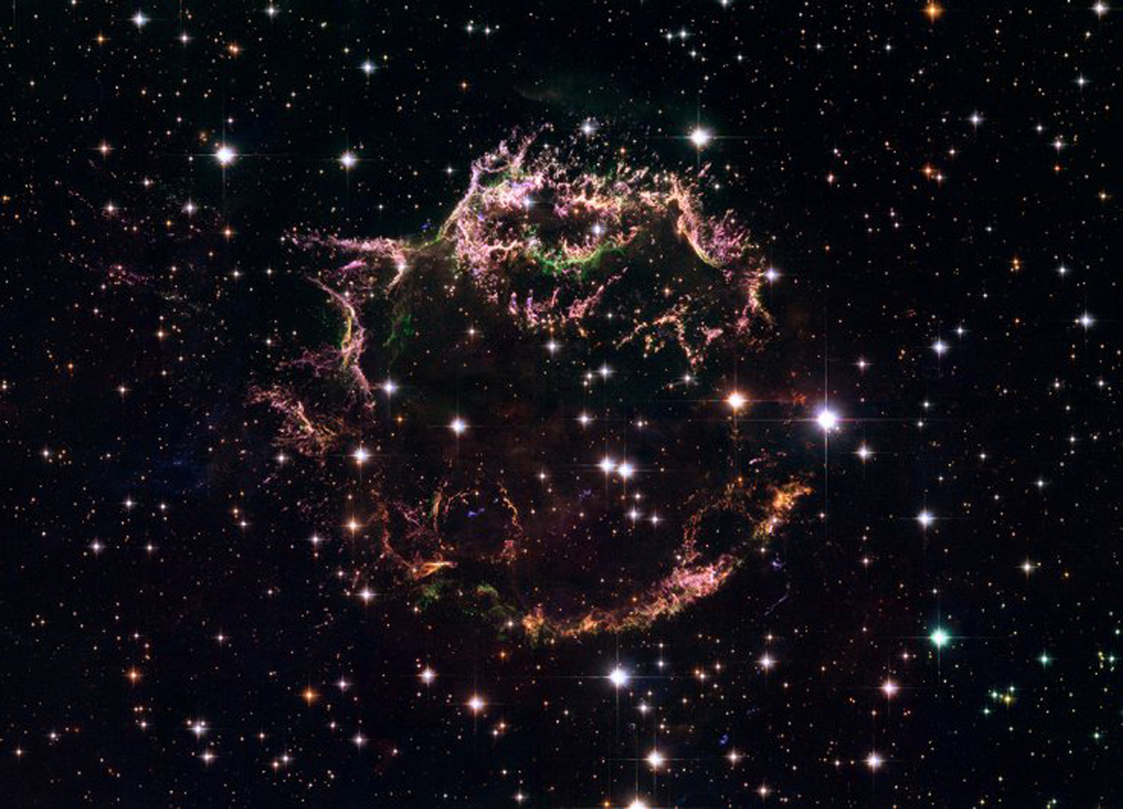Dark matter neither emits nor reflects light, so it cannot be seen by telescopes. - NASA