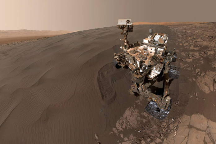 Sandy Selfie Sent from NASA Mars Rover