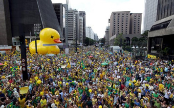 Brazil's Restive Rich Draft a Duck to Protest President