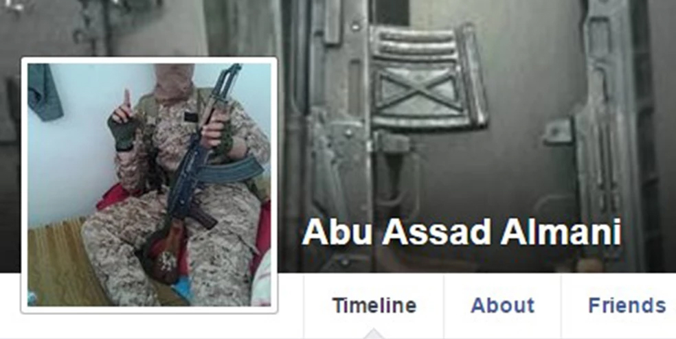 This Facebook page, on which two young women were advertised for sale for $8,000, is attributed to an ISIS terrorist named Abu Assad Almani. He is thought to be a German national. Credit: Facebook