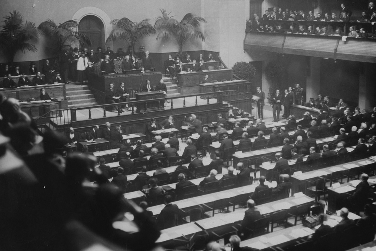Who was the leading advocate for the U.S. entry into the League of Nations?