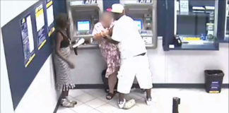 Thug Robs Woman Using ATM And Bystander Does Not Help Her