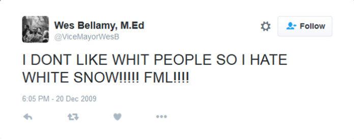 Wes Bellamy Tweets
