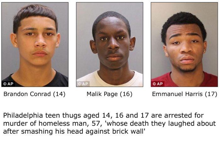 Teen Thugs Arrested For Murdering Homeless Man In Philadelphia