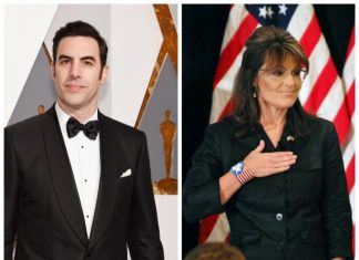 Exclusive—Sacha Baron Cohen Posed as 'Disabled Veteran' Trump Voter with 'Bullet' Necklace and 'InfoWars Stickers' in Palin Prank