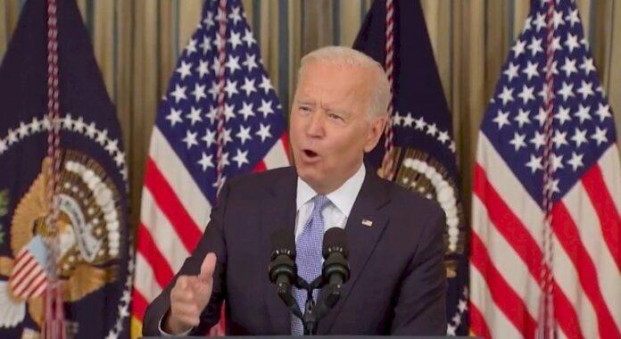 'those-people-will-pay'-–-joe-biden-flees-podium-after-threatening-border-patrol-agents-on-horseback-for-doing-their-job-(video)